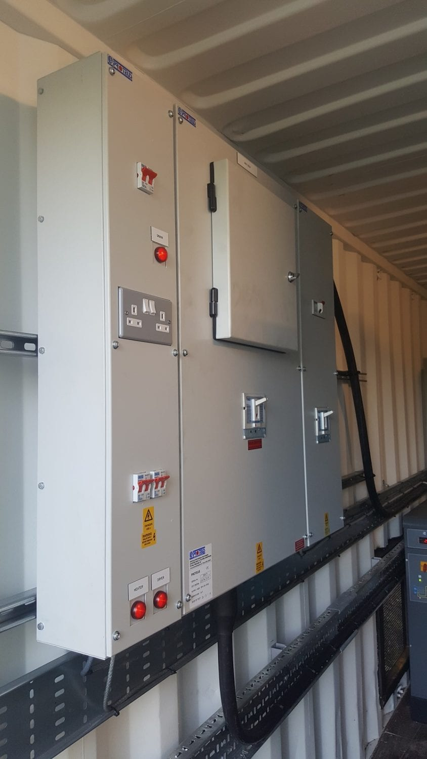 skid mounted compressed air system package